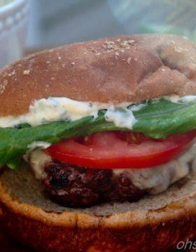 Garlic Basil Caprese Burger