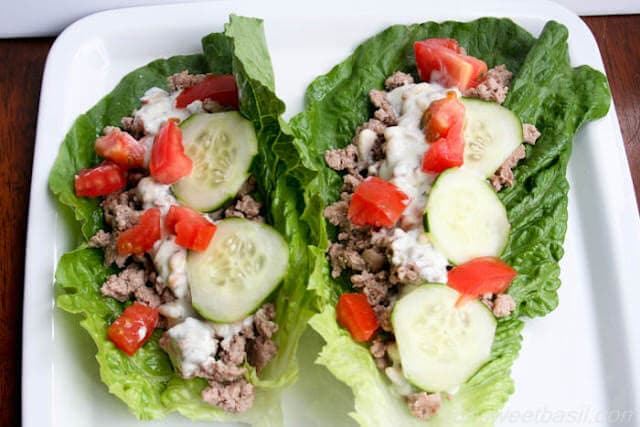 Greek Dill Lettuce Cups