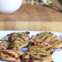 Sweet and Saucy Grilled Chicken Thighs