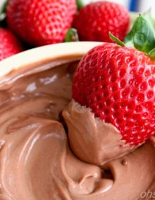 Healthy Chocolate And Strawberries ohsweetbasil.com