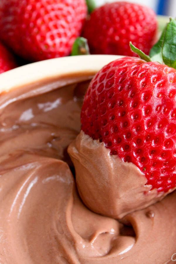 healthy chocolate dip