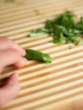 How to chop herbs chiffonade style