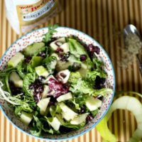 Hulled Hemp Seed Salad with Apple Dressing ohsweetbasil.com
