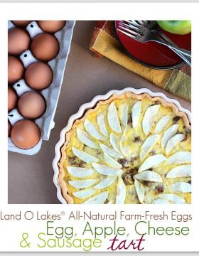 Egg, Apple, Cheese and Sausage Tart