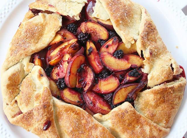 Peach-Blackberry Gallette