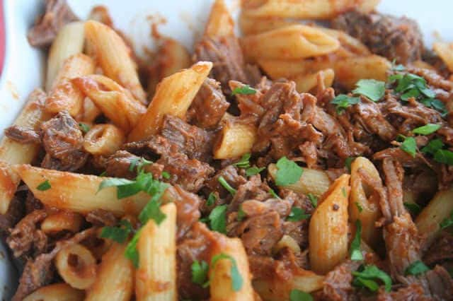 Penne with Braised Short Ribs