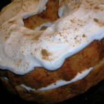 Pumpkin Angel Food Cake with Creamy Ginger Filling By: Jennifer ohsweetbasil.com