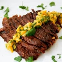Grilled Flank Steak with Mango ChimiChurri