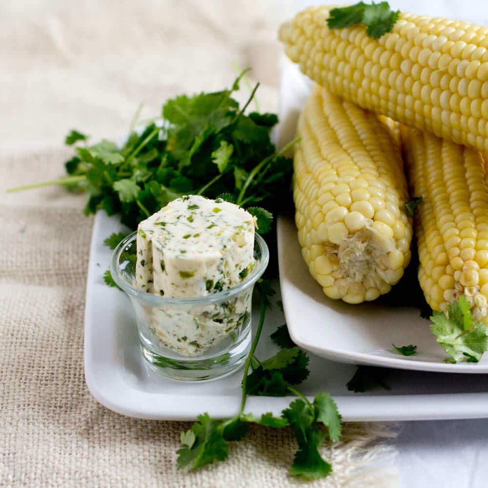 Cilantro Butter Corn