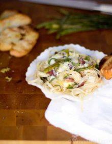 Lemon Asparagus Pasta ohsweetbasil.com