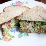 Tarragon Chicken Salad Sandwich ohsweetbasil.com