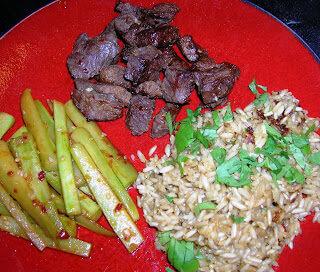 Thai asparagus and lemon grass brown rice. Thai Night By: Jennifer