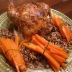 Citrus Cornish Game Hen and Glazed Carrot Bundles