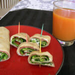 Veggie Wraps with Juice Fusion ohsweetbasil.com