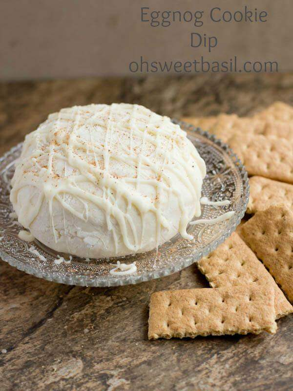 Eggnog Cookie Dip Christmas appetizer