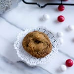 White Chocolate Peppermint Molasses Cookies