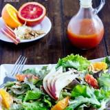 blood orange salad. Christmas salad with blood oranges