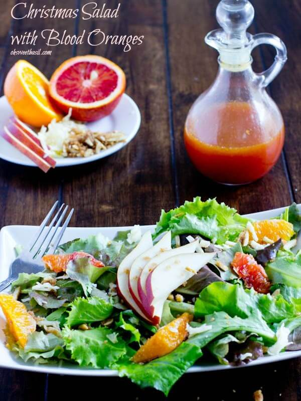 blood orange salad. Christmas salad with blood oranges