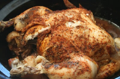 whole crockpot chicken