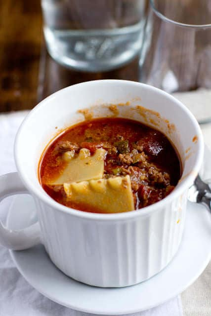 tastes like lasagna soup ohsweetbasil.com