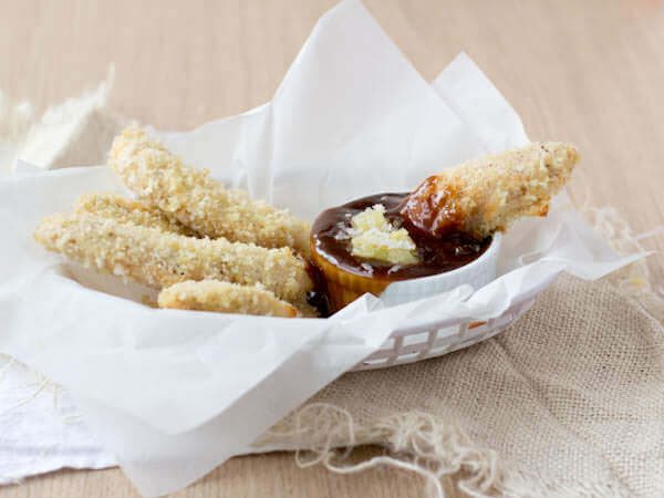 North Shore Chicken Strips with pina colada teriyaki dipping sauce-5