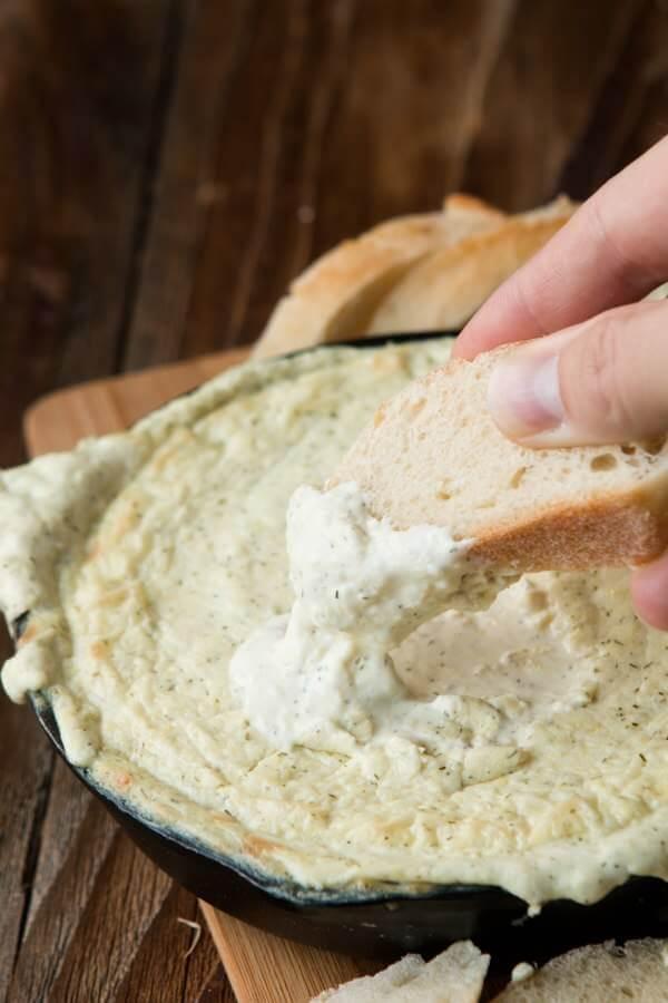 Our favorite dip ever, artichoke dip ohsweetbasil.com