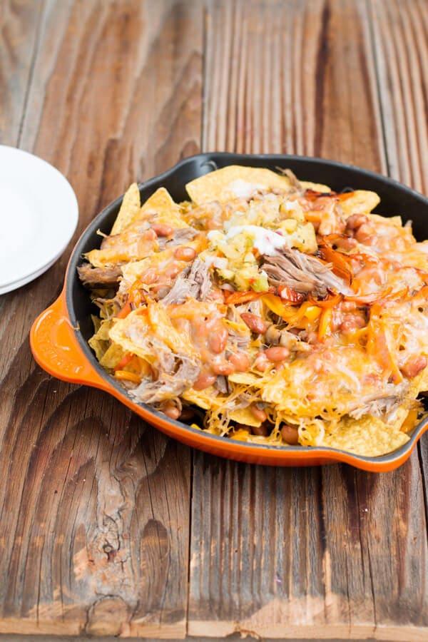 pork nachos ohsweetbasil.com