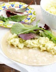 Healthy Avocado Dill Egg Salad Wrap ohsweetbasil.com