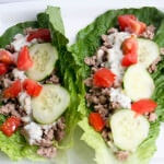 greek lettuce cups with turkey ohsweetbasil.com