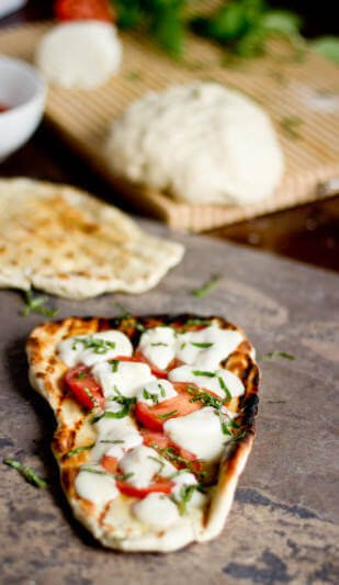 grilled naan pizza ohsweetbasil.com
