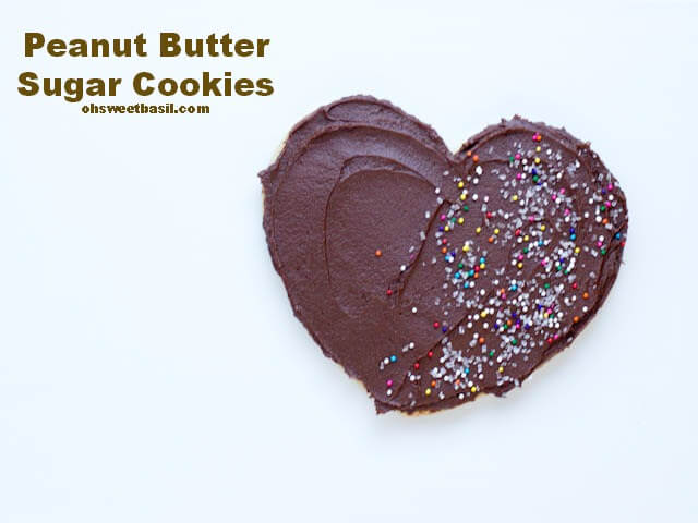 Peanut Butter Sugar Cookies with sprinkles ohsweetbasil.com