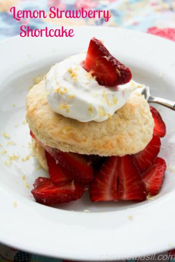 lemon strawberry shortcake ohsweetbasil.com