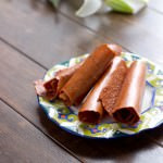 Strawberry Green Smoothie Fruit Leathers