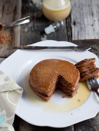 chocolate pancakes ohsweetbasil.com