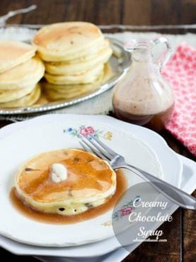 creamy chocolate syrup is perfect for any weekend breakfast ohsweetbasil.com
