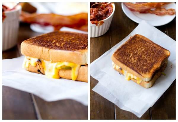 the perfect #manwich grilled cheese @ohsweetbasil.com