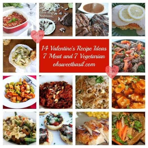 14 valentine's day recipe ideas, meat or vegetarian ohsweetbasil.com