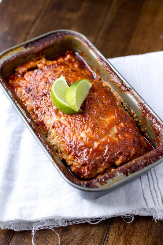 #Turkey Enchilada Meatloaf with a secret #ingredient that keeps this meal moist and delicious. #recipe ohsweetbasil.com