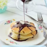 creamy marionberry syrup with sour cream pancakes, the best breakfast ever! ohsweetbasil.com-2