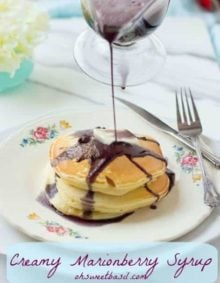 This Creamy Marionberry syrup is sure to delight every mother on Mother's Day or any other day. You can use blackberries too!