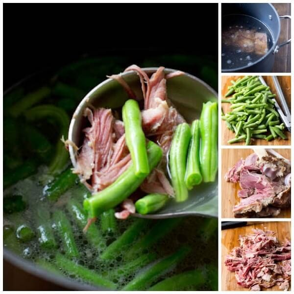 It's easy to use up your leftover ham from Easter in this 3 ingredient, delicious soup! Ham Hock Soup ohsweetbasil.com