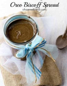 creamy #oreo #biscoff spread that will knock your socks off! #recipe ohsweetbasil.com