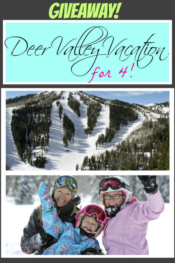 deer valley vacation giveaway