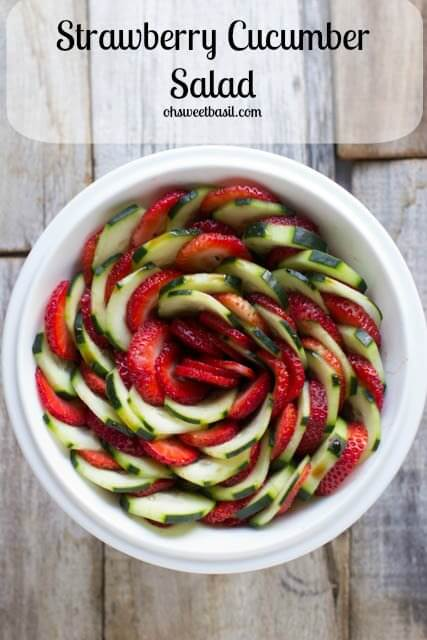 The perfect salad for mother's day is one that's as delicious and wonderful as it is beautiful. This strawberry cucumber salad is just that
