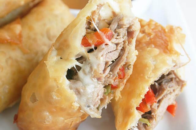 philly cheesesteak egg rolls ohsweetbasil.com