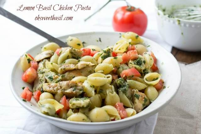 Chicken pasta with lemon basil is easy and even better it's delicious. Packed with protein and flavor this meal is perfect for summer or after a workout