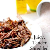 How to make tendershredded beef recipe requires only 4 ingredients, and will delicious for leftovers like, bbq beef sandiches, tostadas etc.