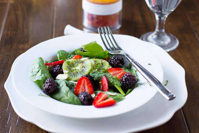 White Basil Berry Salad