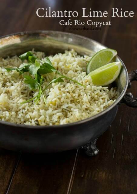 This copycat cilantro lime rice is just like Cafe Rio's and it makes the perfect addition to any Mexican dish or entree for dinner.