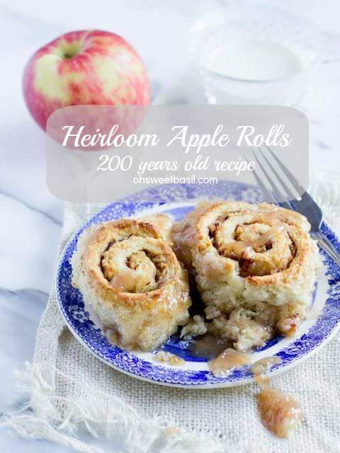 Heirloom apple rolls are one of my favorite recipes and it's been passed down through our family for over 200 years!